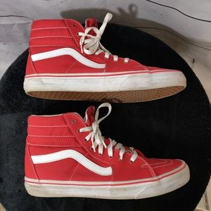Vans Red Canvas Men's Sneakers